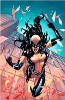 Laura Kinney A.K.A. Wolverine by ronmarz1