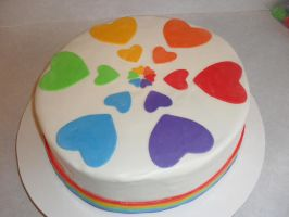 pride cake by rubberpoultry
