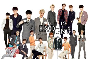 EXO PNG Pack {IVY Club 2014 Part. 5} by kamjong-kai
