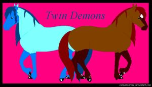 Twin Demons by CarnationRose