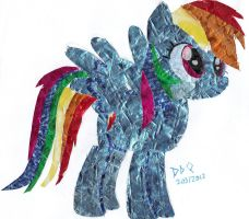 Gum Wrapper Rainbow Dash by DrumblastingQuilava
