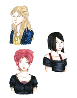 Code Lyoko Ladies Headshots by Concepts-by-Kei