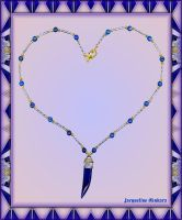 BLUE AGATE HORN NECKLACE by Voodoomamma