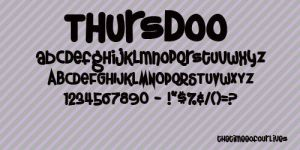 Thursdoo fonts by TheTimeeOfOurLives