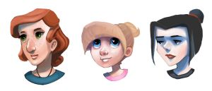 Female Heads by dream-cup