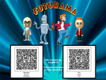 Futurama : Fry and Bender Tomodachi Life QR Codes by LuigiBroz