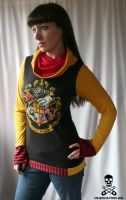 harry potter hogwarts hoodie by smarmy-clothes