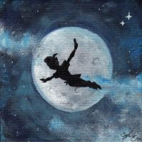 Peter Pan - Painting by zzoffer