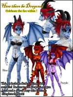 IMVU Dragons by lady-cybercat