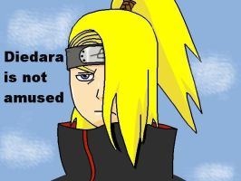 Deidara is not amused xD by AllYouNeedIzLuv