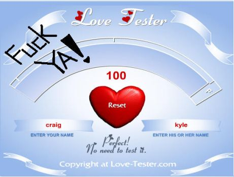 love-tester Cryle by chuckylovestiff123