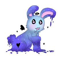 Schorl the Slimy Sparklebunny by cakeuu