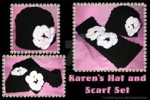 Karen's Hat and Scarf Set by DragonKissses