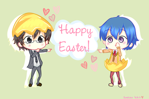 Happy Easter from Tenchou and Choumiryou! by himekaiu