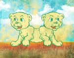 Siamese Lions by goodmorningvoice