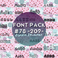 FONT PACK #78 by ergohiki