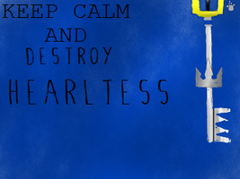 Keep Calm and Destroy Heartless Stamp by SoraRoxas-15