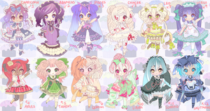 ASTROLOGY SIGNS ADOPTABLES V2 AUCTION closed by Lolisoup