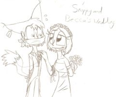 Gift: Snippy and Becca's wedding by DragonCatgirl