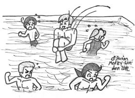 APH-2012 Olympics Men Swimming by Nintendraw