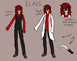 Klaus Bates/Pestmeester OC Reference by squashgender