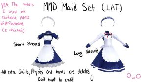 MMD maid dress set by Vocaloid98