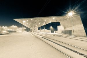 Wroclaw - tram station by mkev