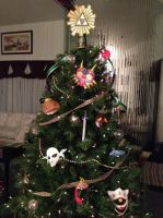 Zelda-Themed Christmas Tree 2013 by b3designsllc