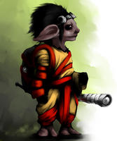 The Wandering Asura by crunchum