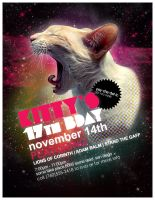 Flyer: Kitty's 17th B-Day by stuckwithpins