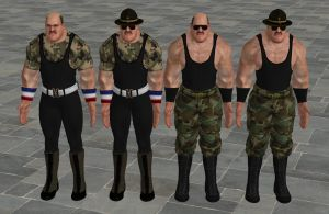 'WWE: All Stars' Sgt. Slaughter XPS ONLY!!! by lezisell