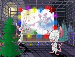 Pinky and the Brain - Christmas by Infindibulator