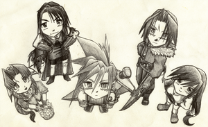 Final Fantasy 7 and 8 by Metatonix