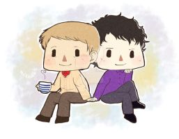 Commission: Johnlock by naripolpetta