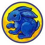 Blue Rabbit by ursulav
