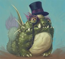 Cactus Dragon from Dragonvale I SAY, GOOD SIR by stutte