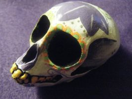 Resin Monkey Sugar Skull by tragicbat