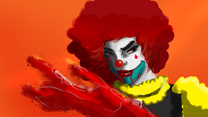 red clown by chray