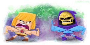 He-Man Vs Skeletor by xanderthurteen