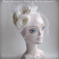 SERENITY Bridal Cocktail Hat by TianaChe