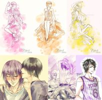KnB Sketches by saru-chikin
