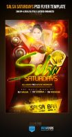 Salsa Saturdays PSD Party Flyer Template by ImperialFlyers