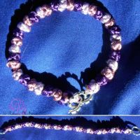 Shades of Purple Button Knot Bracelet by RebeccaMArt