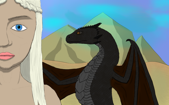 Deanerys and Drogon by Ole-HenrikNorway