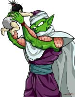 Baby Pan and uncle Piccolo. by TheBombDiggity666