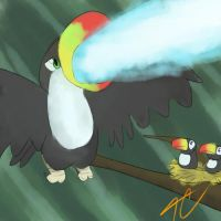 Laser toucans by TrinityCollapse