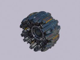 radial fighter7 by Scifiwarships