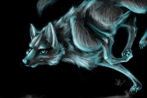Wolf Patronus by Bean-Sprouts