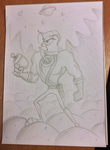 Earthworm Jim (pencil and paper) by look1982