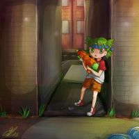 Yotsuba on mission by anemontaglub